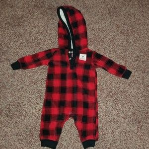 Carters hooded fleece one piece